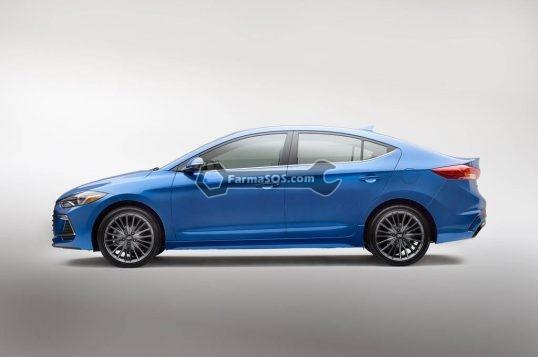 2017 Hyundai Elantra Sport side profile 1 538x357 نکاتی درباره ی هیوندای النترا اسپرت 2017